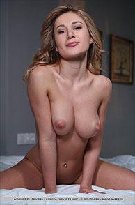 Lusty Nude Erotic Chesty Model Posing